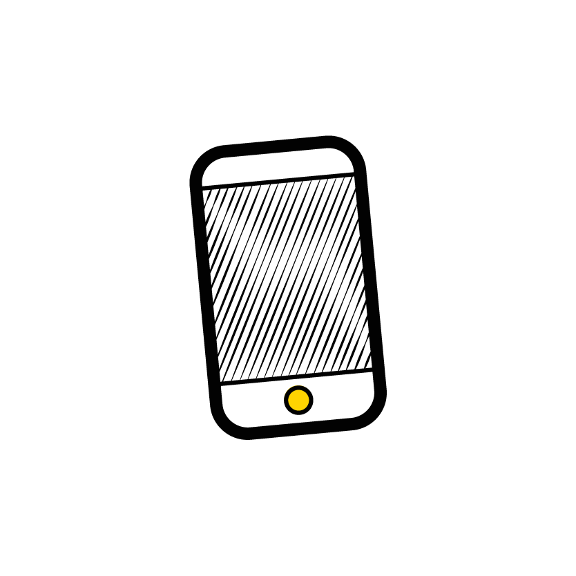 Icon showing mobile phone
