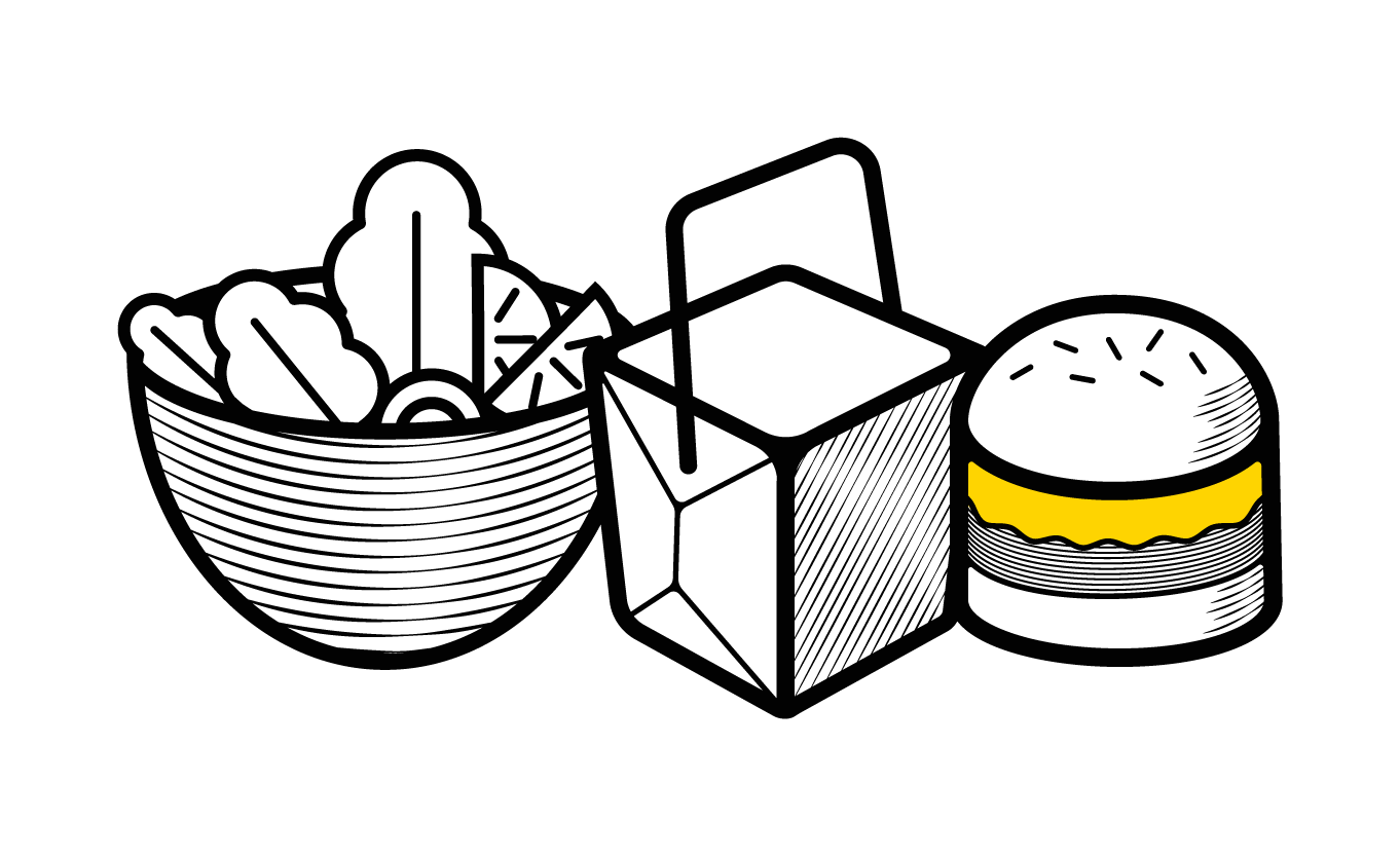 Icon showing variety of meals